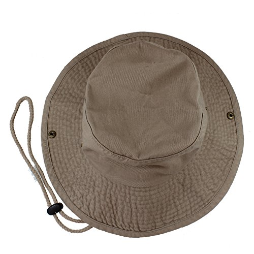 (Gelante 100% Cotton Stone-Washed Safari Booney Sun Hats 1910-Khaki-L/XL)