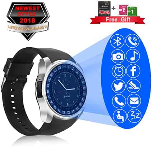 dd0b602c6afad9 Smart Watch, Bluetooth Smartwatch with Camera Touchscreen,Smart Watches  with SIM Card Slot,