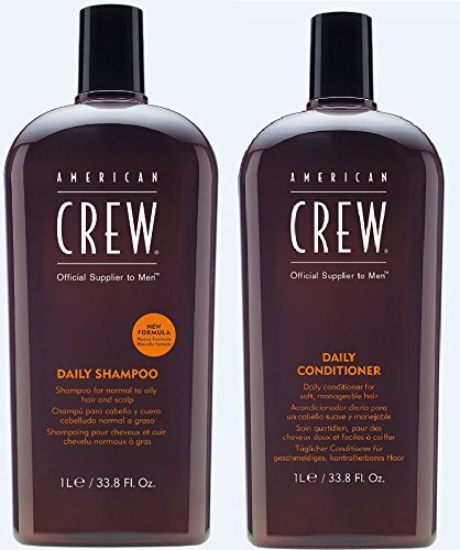 American Crew Daily Shampoo and Conditioner 33.8 Fl. Oz. (Best American Crew Shampoo)
