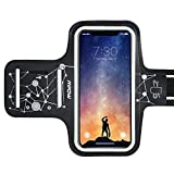 Mpow Running Armband for iPhone 11 Pro 11 Xr XS X 8 7 6 6S Samsung Galaxy S9 S8 Up to 6.1'', Running Phone Armband with Running Headphone Slot and Key Slot for Running Exercise, Starry Sky Pattern