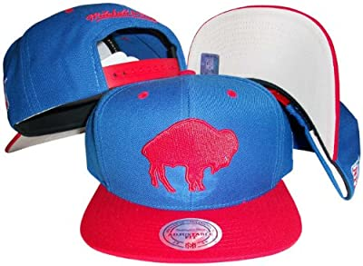 Buffalo Bills Blue/Red Two Tone Snapback Adjustable Plastic Snap Back Hat / Cap
