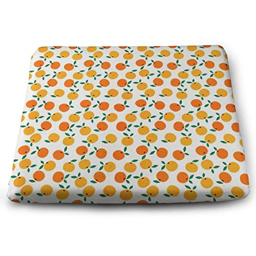SKYISOK Memory Foam Seat Cushion Mandarin Pattern Chair Pads Removable Cover Office/Vehicles/Home 15