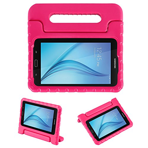NEWSTYLE Tab E Lite 7.0 & Tab 3 Lite 7.0 Kids Case - Shockproof Light Weight Protection Handle Stand Kids Case for Samsung Galaxy Tab E Lite 7.0 Inch 2016 & Tab 3 Lite 7.0 Tablet (Rose) (Galaxy Tab 3 Case Handle)