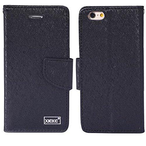 "Price comparison product image IPhone 6Plus / iPhone 6SPlus Case,  Aroko Card Holder Stand Leather Wallet Case - Silk Flip Cover for 5.5"" iPhone6Plus / 6SPlus (6Plus / 6sPlus,  Black)"