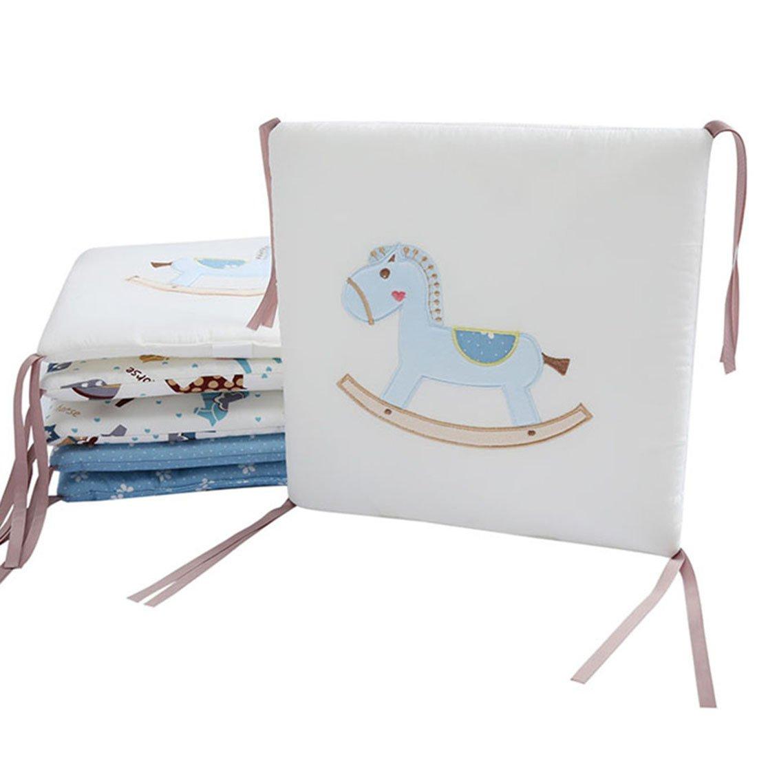 zhaoke 6pcs bebé cama Bumper Protector de cabeza para cuna, hechas de algodón juego de cama de guardería 30* 30cm caballo