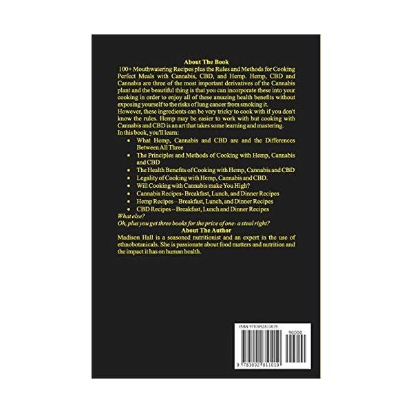 3 Books in 1: Cannabis, CBD and Hemp Cookbook