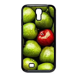 [Apple] Green Red Apples Case for Samsung Galaxy S4, Samsung Galaxy S4 Case {Black}