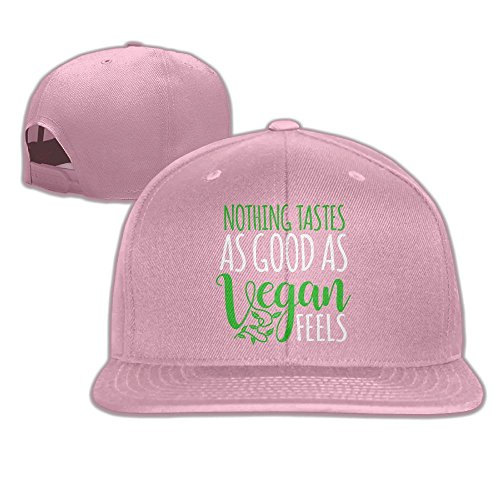 Yishuo Mens LIMITED EDITION - VEGAN Cool Golf Pink Cap Adjustable Snapback