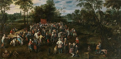 Perfect Effect Canvas ,the Beautiful Art Decorative Canvas Prints Of Oil Painting 'Brueghel The Elder Jan Banquete De Bodas 1623 ', 10 X 21 Inch / 25 X 52 Cm Is Best For Garage Decor And Home Decoration And Gifts
