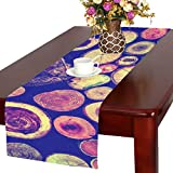 AnnHomeArt Timber wood texture nature art Table Runner Kitchen Dining Party Table Linen Cloth16x72 inch