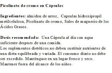 Picolinato de cromo de Robert Franz - 200 Cápsulas: Amazon.es: Salud y cuidado personal