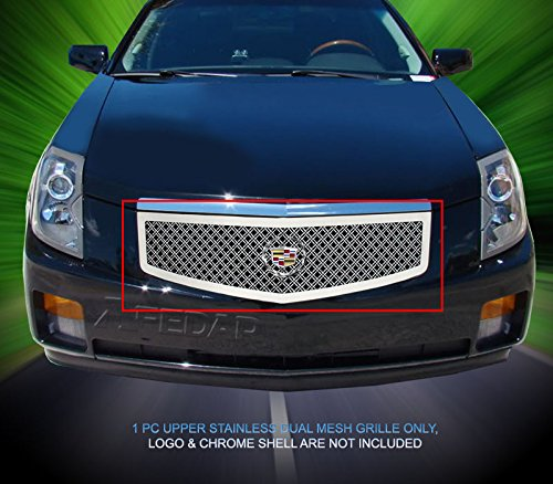 (Fedar Main Upper Dual Weave Mesh Grille for Compatible With 2003-2007 Cadillac CTS)