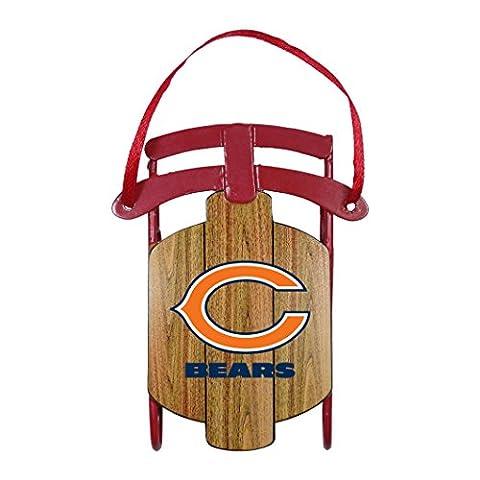 NFL Chicago Bears Metal Sled Ornament - Chicago Bears Christmas Ornament