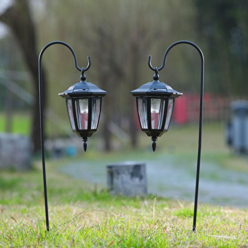 Landscape Lighting Used: Maggift 26 Inch Hanging Solar Lights Dual Use Shepherd