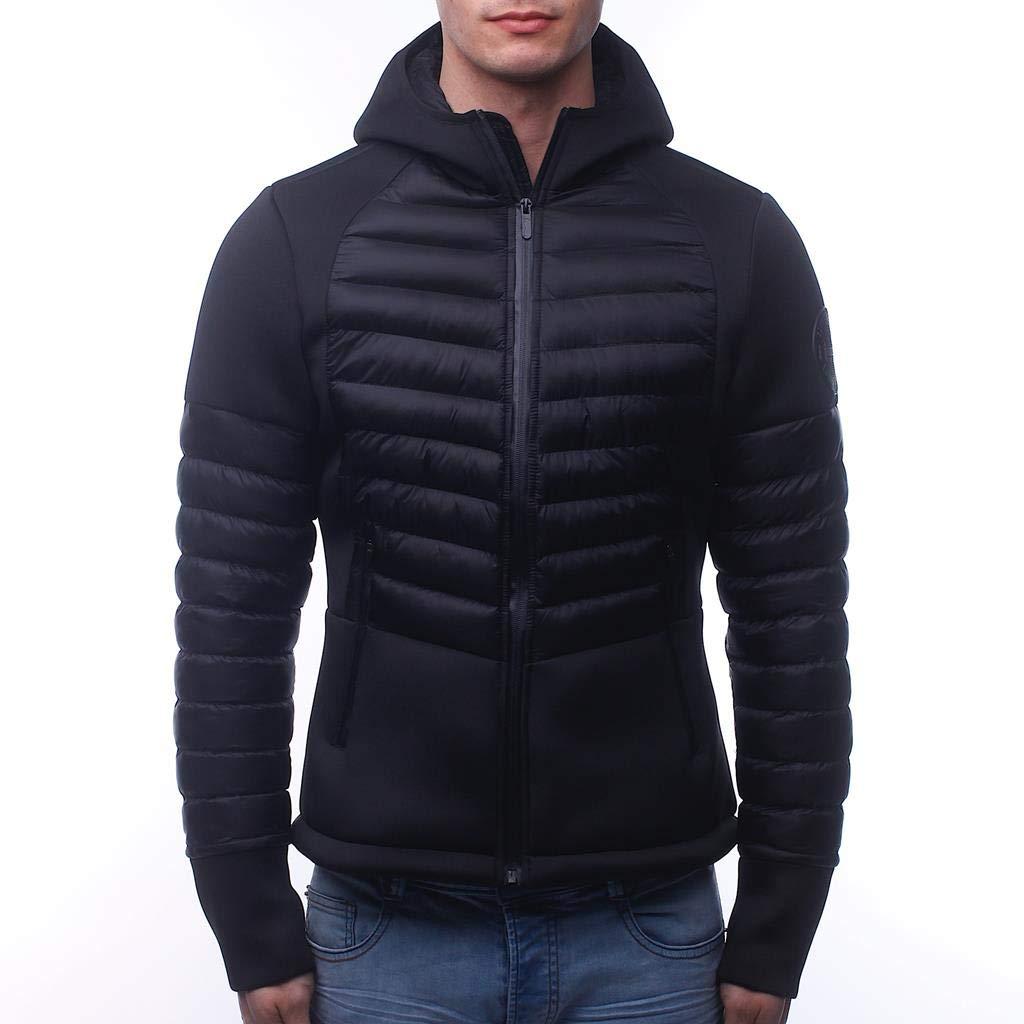Noir M BOXEUR DES RUES Bxe-9280h Veste Full Zip avec Capuche Homme