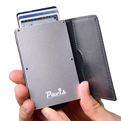 BEST SLIM RFID BLOCKING WALLETS for Men & Women, Patented Minimalist Design for Easy Card Holder Release, Travel Safe Wallet Shield Blocker Sleeves, Case Protects Your Credit Cards & Driver's License