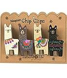 Natural Life Magnet Chip Clips Llamas