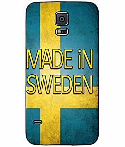 Made in Sweden Plastic Phone Case Back Cover Samsung Galaxy S5 I9600