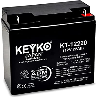 Jump N Carry JNC 660AIR Battery 12V 22Ah Fresh & Real 22Amp AGM/SLA Rechargeable Replacement Designed for Jump Starter - Genuine KEYKO - Nut & Bolt L1 Terminal - P