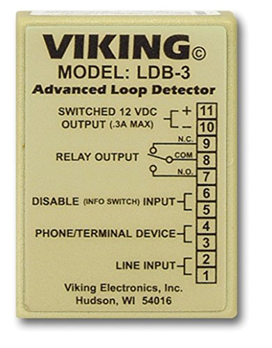 New Viking Electronics Loop And Ring Detector Board Wall Mountable AC/DC Power Adapter (Ring Detect Relay)