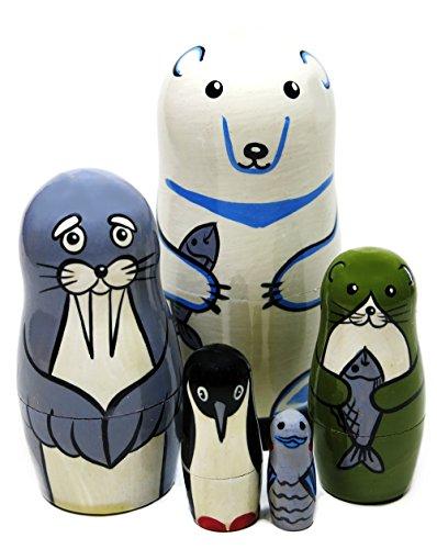 Polar Bear and Aquatic Animals 5-Piece 4.5