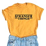 Lookface Women's Cute T Shirt Junior Tops Teen Girls Graphic Tees Yellow X-Large