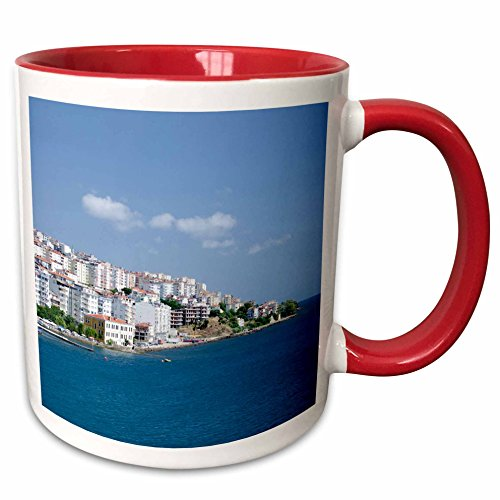 3dRose Danita Delimont - Turkey - Turkey, Paphlagonia, Sinop, Black Sea port - AS37 CMI0808 - Cindy Miller Hopkins - 15oz Two-Tone Red Mug (mug_133143_10)