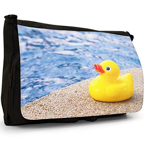 Rubber Ducks School Duck Black Large Kids Messenger Shoulder Pool Bag For Ready Toy Bath In Bubble Laptop Canvas Swim grHqxnpg