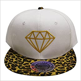 Amazon.com  City Hunter Cf918t Diamond Snapback Cap - 5 Colors (Cf1640  White gold)  Books 790a3deeb0c5