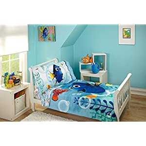 Disney Finding Dory Bubbles 4 Piece Toddler Bedding Set 7