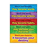 Motivate kids of all ages to succeed with positive messages that promote character development, conflict resolution, diversity, and achievement. Perfect in classrooms, homes...anywhere! durable and reusable. 13 3/8x 19.