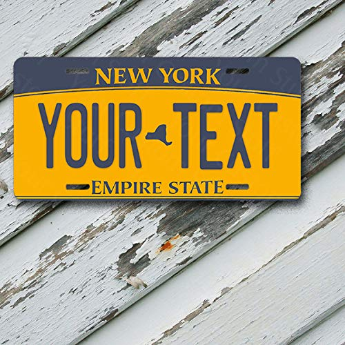License Plate New York Wave 2 Empire State Customizable 6