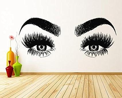 f3c0cd340e5 Letters Wall Decor Stickers Lashes Eyelashes Eyebrows Brows Beauty Salon  Decor Wall Decal Sticker Eye Quote