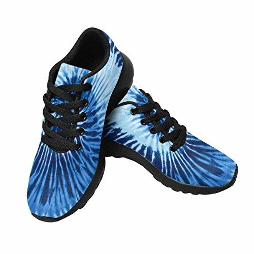 Interessante Womens Jogging Running Sneaker Leggero Go Easy Walking Comfort Sportivo Scarpe Da Ginnastica A Spirale Blu Tono Colore Tie Dye Multi 1