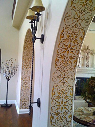 (Arabesque Border Stencil for Painting a Design on Wall, Ceiling, or Arch Way)