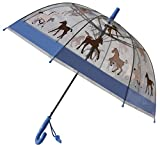 Foxfire for Kids Clear Dome Umbrella (Blue Pony)