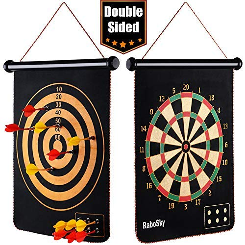 Kids For Dart Games - Magnetic Dart Board for Kids, RaboSky Indoor Outdoor Board Games Set, Best Toys Gift for Age 5 6 7 8 9 10 11 12 13 14 15 16 Year Old Boys, Include 12pcs Dart Flights