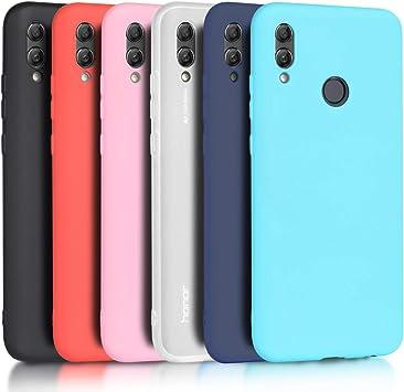 Wanxideng - 6X Funda Huawei P Smart 2019 / Honor 10 Lite, Carcasa Suave Mate en Silicona TPU, Soft Silicone Case Cover [ Negro + Blanco Translúcido + Rojo+ Rosado+ Menta Verde + Azul Claro ]: Amazon.es: Electrónica