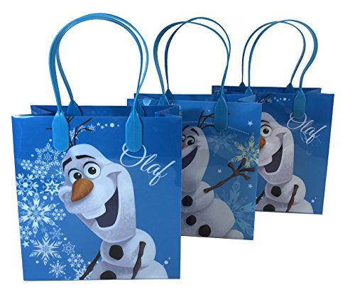(12ct) Disney Nickelodeon Marvel Birthday Goody Gift Loot Favor Bags Party Supplies (Olaf III) ()