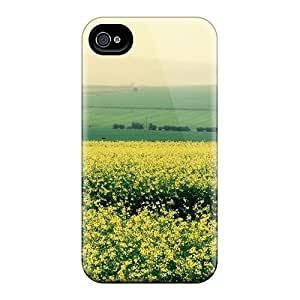Hard Plastic Iphone 4/4s Case Back Cover,hot Canola Flower Case At Perfect Diy