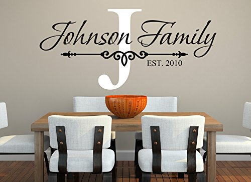 Family Name Wall Decal Monogram