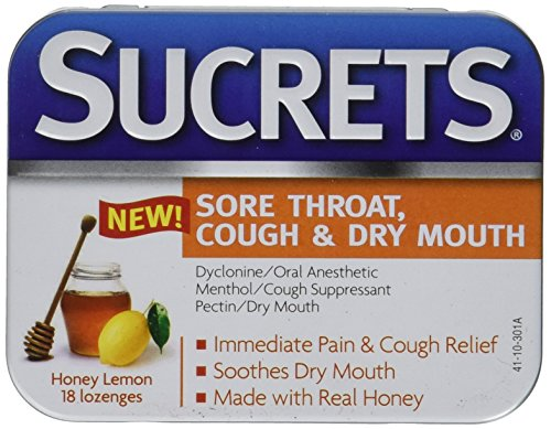 Sucrets Medicated Lozenges-Honey Lemon-18 - Lozenges 75 Honey