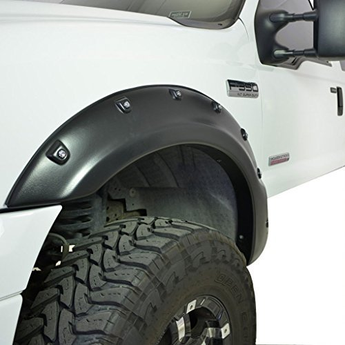 AUXMART 4pcs Pocket Style Fender Flares for 1999-2007 Ford F250 F350 ()