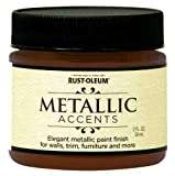 Rust-Oleum 255334 Metallic Accents Paint, 2 oz Trial Size, Warm Copper