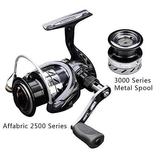 FYSHFLYER Affabric 2500 Series Fishing Reel-Smooth & Lightweight Spinning Reel-9+1 Superior Ball Bearings Spin Reel+ One Extra 3000 Series Aluminum Spool