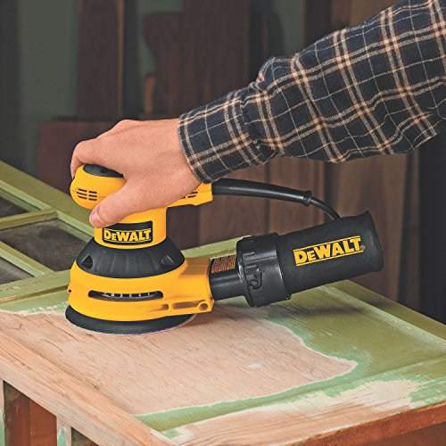 028877492902 - DEWALT D26453K 3 Amp 5-Inch Variable Speed Random Orbit Sander Kit with Cloth Dust Bag carousel main 3