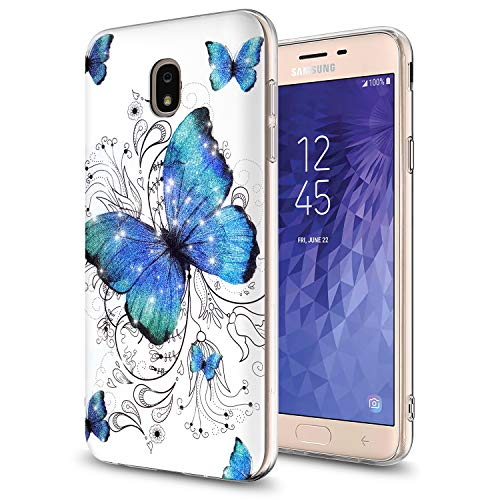 (GORGCASE Galaxy J7 2018 case,/J7 V 2nd Gen,Galaxy J7 Refine,Galaxy J7 Aero,J7 Star,J7 Top,J7 Crown,J7 Aura,J7 Eon with Screen Protector,Slim Cute Protective Cover for Samsung Galaxy J7 V Butterfly)
