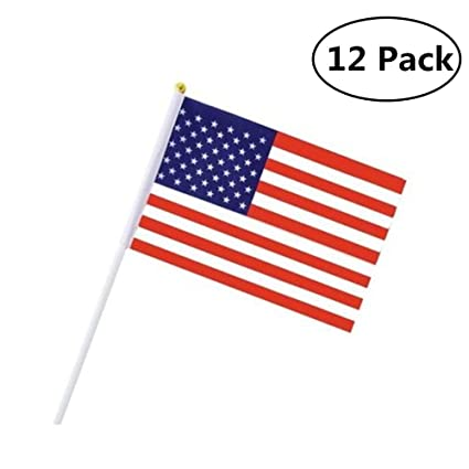 f0e2b907b48 JSDOIN US Stick Flag USA Stick Flag American Stick Flag Small Mini Flag 50  Pack Hand