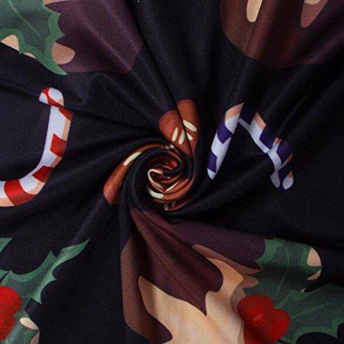 QIYUN.Z Vestidos para mujer Postre de Chocolate Mini Manga Larga Vestido de Swing