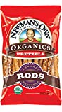 Newman's Own Organics Pretzels, Salted Rods, 8-Ounce Bags (Pack of 12)